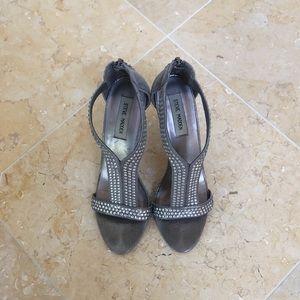 Steve Madden Silver Sparkle Heels